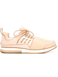 Hender Scheme Panelled Lace Up Sneakers Nude And Neutrals