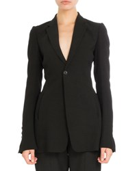 Rick Owens Tailored Bell Sleeve Blazer Black