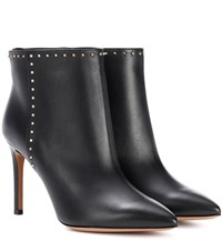 Valentino Garavani Leather Ankle Boots Black