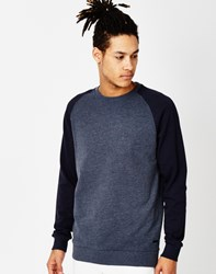 Only And Sons Fan Raglan Sweatshirt Navy