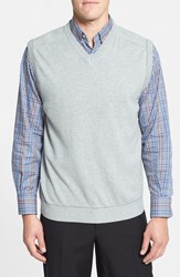 Men's Cutter And Buck 'Broadview' Cotton V Neck Vest Athletic Grey Heather