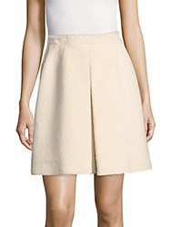 Valentino Wool Silk Blended A Line Skirt Beige