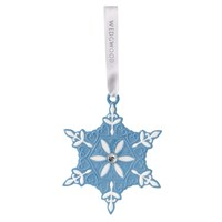 Wedgwood Snowflake Decoration Blue Small