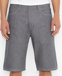 Closeout Levi's 569 Loose Straight Fit Silver Psk Shorts