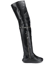 Toga Pulla Over The Knee Boots Black