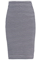 Gaastra Abele Pencil Skirt Dark Indigo Off White