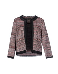 Soallure Suits And Jackets Blazers Women Maroon