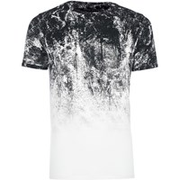 River Island Mens White Faded Glitch Print Muscle Fit T Shirt