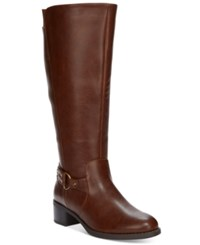 Easy Street Shoes Grande Plus Wide Calf Tall Riding Boots Women's Brown