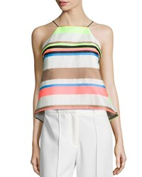Milly Fluo Multi Stripe Cami Blouse Multi Colors