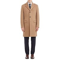 Barneys New York Cashmere Coat Camel