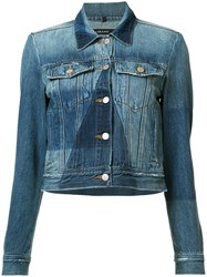 J Brand Panelled Denim Jacket Blue