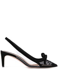 Red Valentino V Polka Dot Mesh Pumps Black