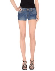 List Denim Denim Shorts Women Blue