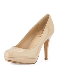 Circa Joan And David Pearly Patent Leather Pump Light Natural