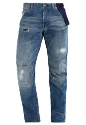 G Star Gstar 5620 3D Tapered Pkt Relaxed Fit Jeans Black Destroyed Denim