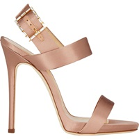 Jeweled Buckle Double Band Sandals Antico