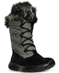 Skechers Women's On The Go 400 Glacial Outdoor Boots From Finish Line Black Natural