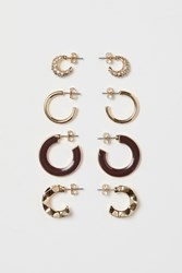 Handm H M 4 Pairs Earrings Gold