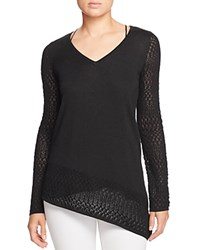 Design History Pointelle Knit Sweater Onyx