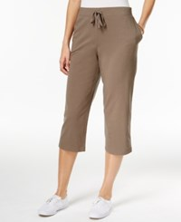 Karen Scott Petite Drawstring Capri Pants Only At Macy's Brown Clay