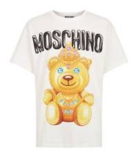 Moschino Large Teddy Print T Shirt Male Ivory