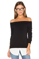 Central Park West Baton Rouge Off Shoulder Sweater Black