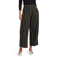 Cedric Charlier Striped Wide Leg Trousers Black Pat.
