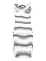 Barbour Dalmore Stripe Jersey Shift Dress White And Navy White And Navy