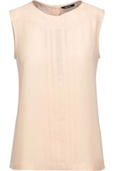 Raoul Pintucked Crepe Top Beige