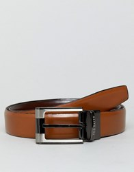 Ted Baker Crafti Smart Leather Reversible Belt Brown