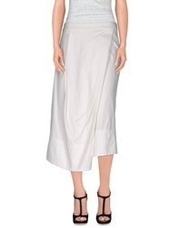 Malloni Skirts 3 4 Length Skirts Women White