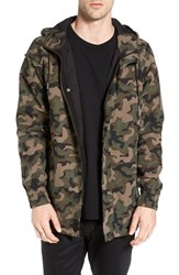 Zanerobe Men's 'Tion' Camo Print Hooded Fishtail Parka
