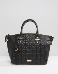 Lipsy Quilted Winged Tote Bag Black