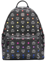 Mcm Spectrum Diamond Backpack Black