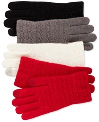 Steve Madden Cable Knit Touch Gloves Red