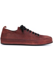 Ann Demeulemeester Lace Up Sneakers Red