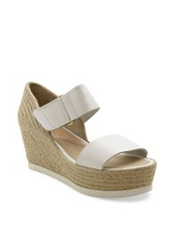 Andre Assous Gretta Platform Wedge Sandals White