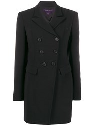 Ralph Lauren Collection Long Double Breasted Blazer Black