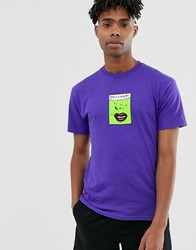Huf Issue Logo T Shirt In Purple