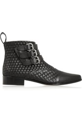 Tabitha Simmons Early Quilted Leather Ankle Boots Black