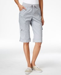 Styleandco. Style Co. Cuffed Cargo Bermuda Shorts Only At Macy's New Titanium