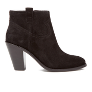 Ash Women's Ivana Suede Heeled Ankle Boots Black