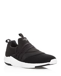 Creative Recreation Matera Knit Lace Up Sneakers Black White