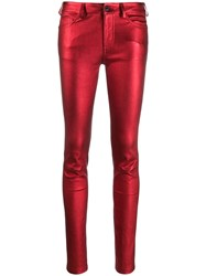 Zadig And Voltaire Phlame Skinny Trousers Red
