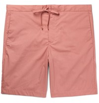 Norse Projects Regin Cotton Blend Shell Shorts Pink