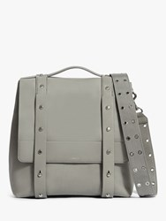 Allsaints Sid Leather Backpack Blue Grey