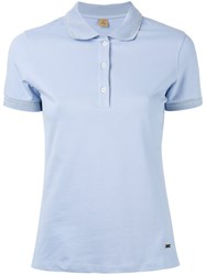 Fay Polo Shirt Women Cotton Spandex Elastane Xl Blue