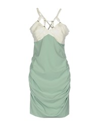 Annarita N. Short Dresses Light Green