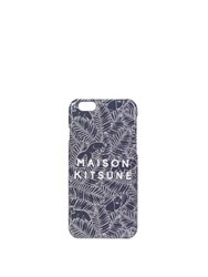 Maison Kitsune Fox And Fern Print Iphone 6 Case Navy